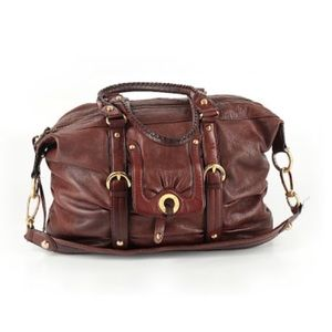 B. Makowsky Leather Satchel Bag